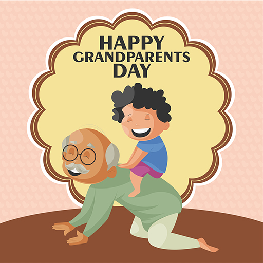 Happy Grandparents Day Special For Grandfather Banner Design Template Medium Thumbnail