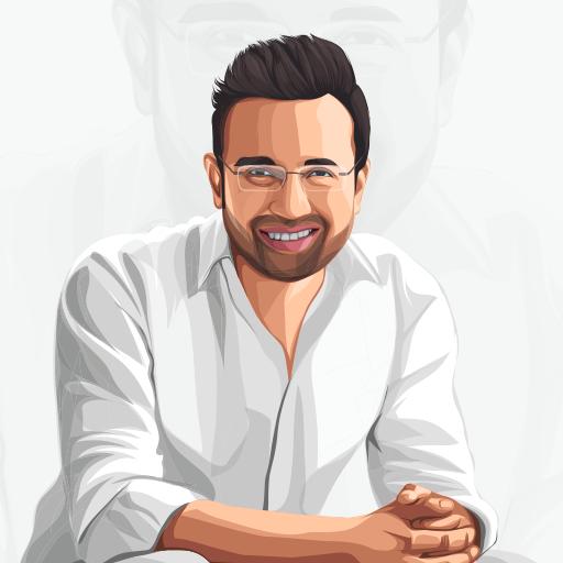 Sandeep Maheshwari indian Entrepreneur and motivational speaker Celebrity Vector Illustration