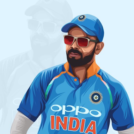 Virat Kohli Indian Cricketer Vector Illustration