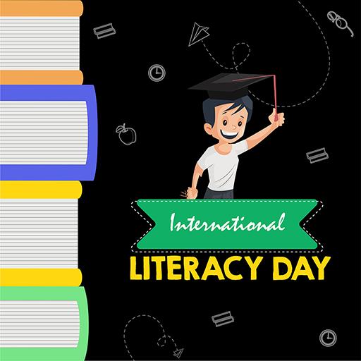 10 International Literacy Day banner with a boy medium thumbnail