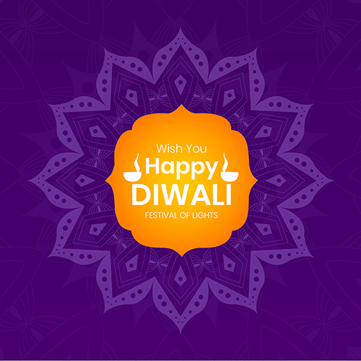 Happy Diwali banner design template on a colorful background