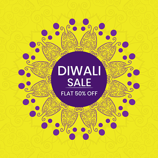 Happy Diwali banner design with a festival sale and discount offer