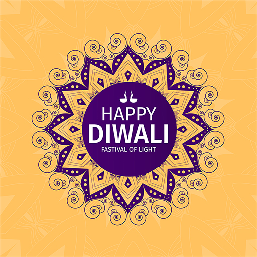 Festival of lights with Happy Diwali banner design on a colored background