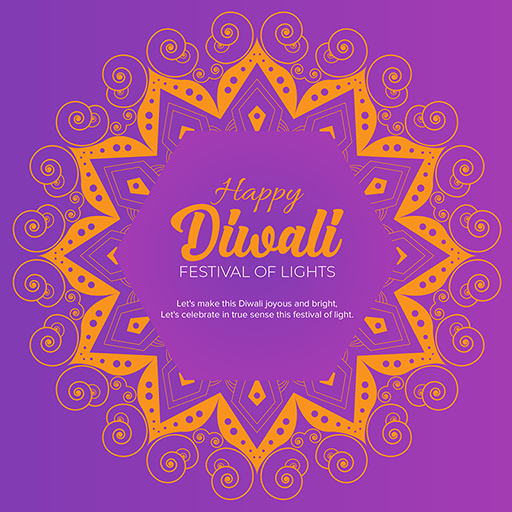 Happy Diwali banner design with festival of lights on a colorful background