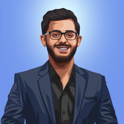 Ajey Nagar Indian YouTuber Vector Portrait Illustration