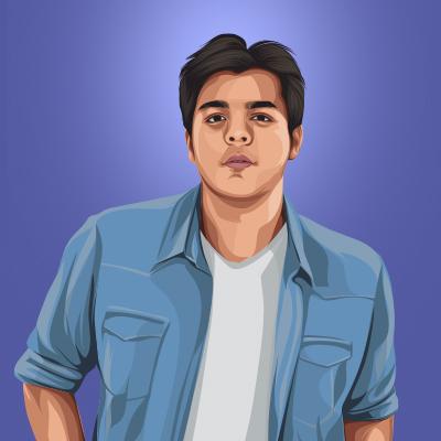 Ashish Chanchlani Indian Youtuber Vector Portrait Illustration