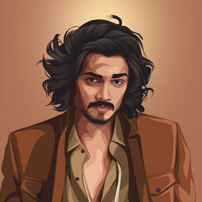 Bhuvan Bam Indian Comedian Vector Portrait Illustration
