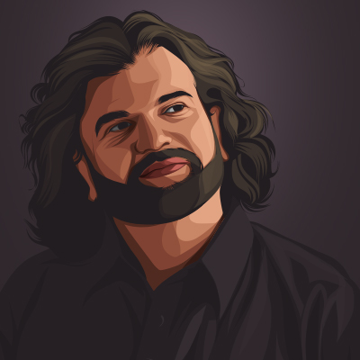 Hans Raj Hans Member Of The Lok Sabha Vector Portrait Illustration