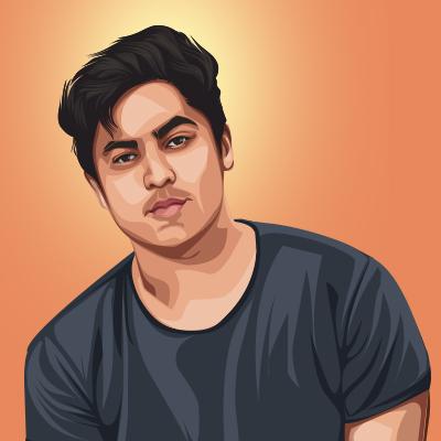 Harsh Beniwal Indian Youtuber Vector Portrait Illustration
