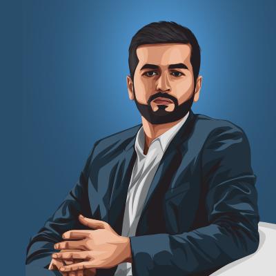 Kavin Bharti Mittal CEO of Hike Messenger Vector Portrait Illustration