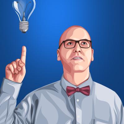 Mr. Preston Racette Canadian Business Man Vector Portrait Illustration