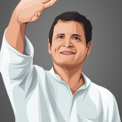 Rahul Gandhi Indian politician Vector Portrait Illustration