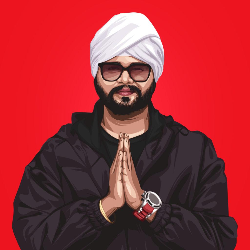 Ramji Gulati Singer & Music Producer Vector Portrait Illustration