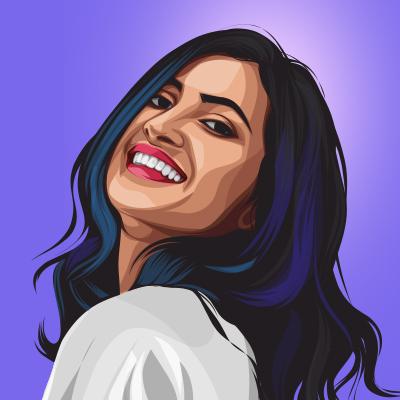 Vidya Vox American YouTuber Vector Portrait Illustration