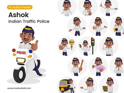 Ashok – The Traffic Police Vector Bundle