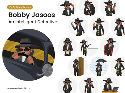 Bobby Jasoos – An Intelligent Indian Detective Vector Bundle