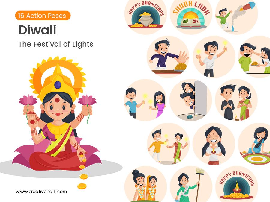 Diwali- The Festival of Lights Vector Bundle