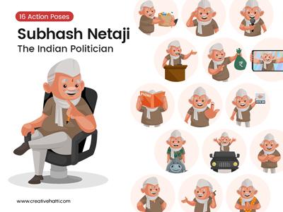 Subhash Netaji – The Indian Politician Vector Bundle