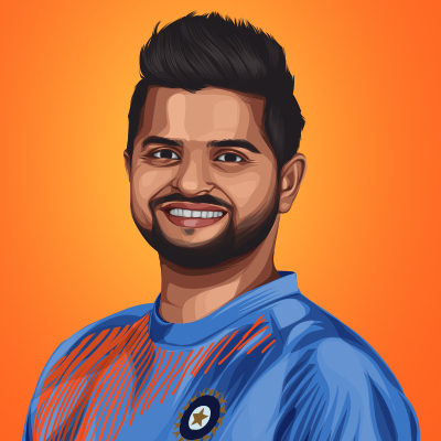 Suresh Raina Indian Cricket Player Vector Illustration for free download