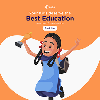 Your kids deserve the best education with a banner design template