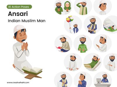 Ansari – Indian Muslim Man Vector Bundle