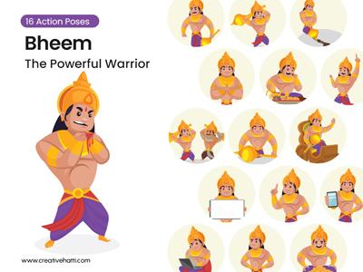Bheem – The Powerful Warrior Vector Character Bundle