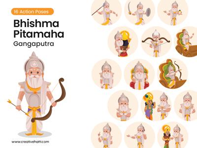 Bhishma Pitamaha – Gangaputra Vector Character Bundle