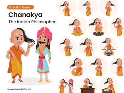 Chanakya – The Indian Philosopher Vector Character Bundle