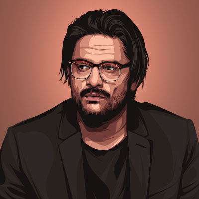 Jaideep Ahlawat Indian Actor Portrait Vector Illustration