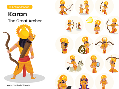 Karna – The Great Archer Vector Character Bundle