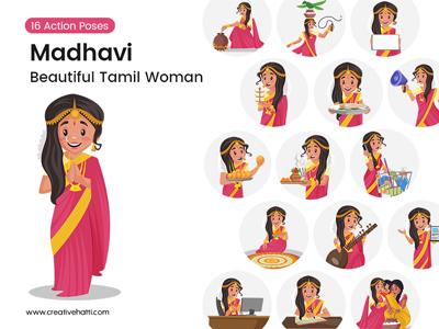 Madhavi – Beautiful Tamil Woman Vector Bundle