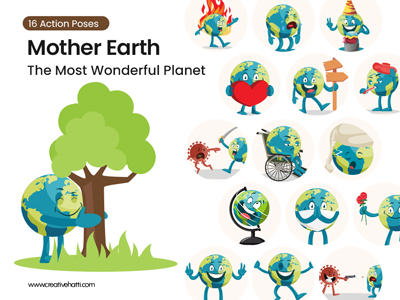 Mother Earth – The Most Wonderful Planet Vector Bundle