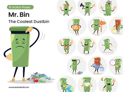 Mr. Bin- The Coolest Dustbin Vector Bundle