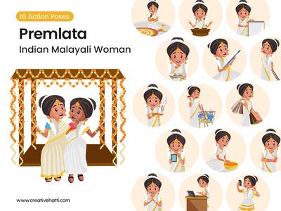 Premlata – Indian Malayali Woman Vector Bundle