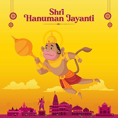 Shri Hanuman Jayanti banner design template