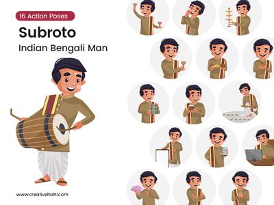 Subroto – Indian Bengali Man Vector Bundle