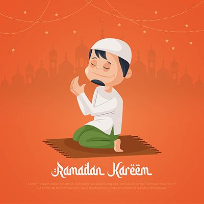 Banner design template of Ramadan Kareem festival illustration