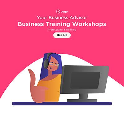 Banner for business training workshops your business advisor