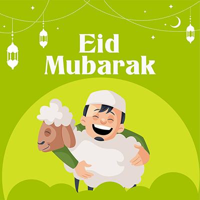 Banner template design of Ramadan Eid Mubarak