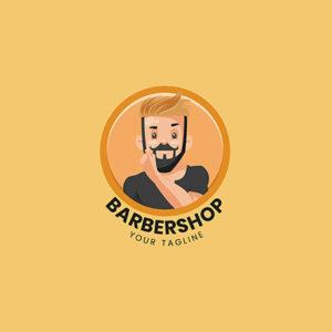 Barbershop Vector Mascot Logo Template- 38 small