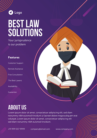 Best Law Solutions Service Flyer Design Template
