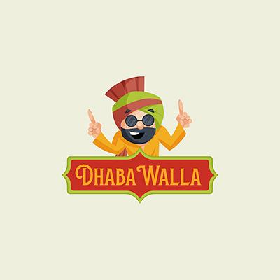 Dhaba Walla Indian Vector Mascot Logo Template