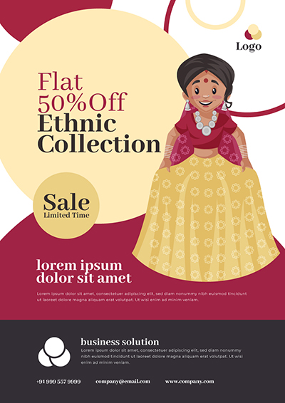 Ethnic Collection sale offer Flyer Design Template