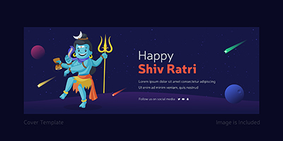 Facebook cover page template of happy Maha Shivratri