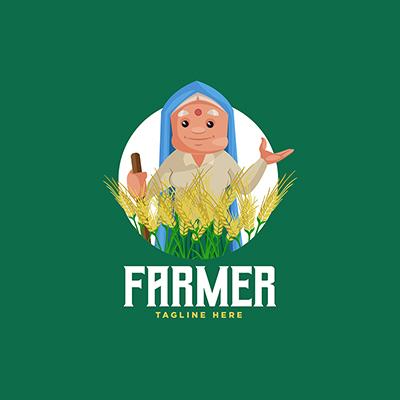 Farmer Vector Mascot Logo Template-43 small