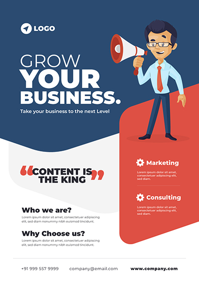 Grow Your Business Flyer Design Template