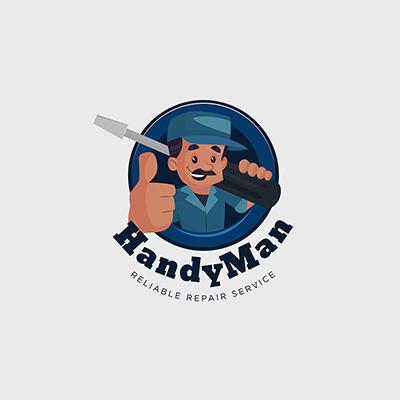 Handyman Repair Service Vector Mascot Logo Template