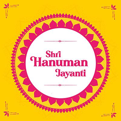 Hanuman Jayanti traditional festival banner template design