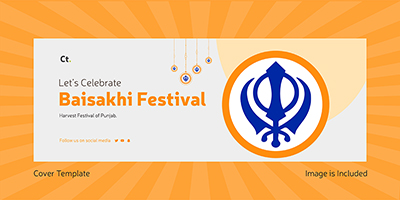 Happy Baisakhi festival with Facebook cover page design
