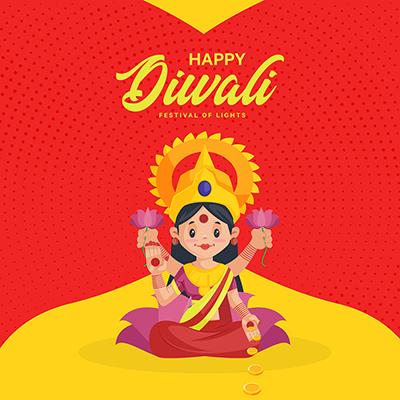 Happy Diwali the festival of lights banner